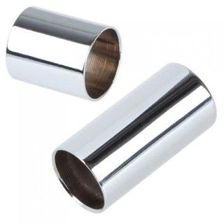 2 Cylinder Stainless Steel Guitar Slides: Musical Instruments
