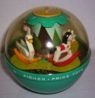 Vintage 1966 Fisher Price # 165 Musical Roly Poly Chime Ball Toy Ponies & Geese  Other Products