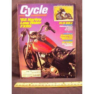1987 87 October CYCLE Magazine (Features: Road Test on Harley Davidson 883 Sportster, Harley Davidson FXRS Low Rider, & Kawasaki EL250 Eliminator): Cycle: Books