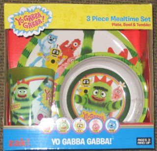 Yo Gabba Gabba 3 Piece Mealtime Set By ZAK!: Toys & Games