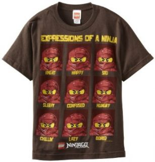 Lego Ninjago Boys 8 20 Ninja Expressions Regular Tee Clothing