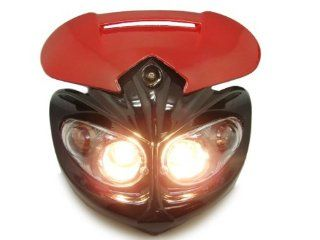 TMS Head Light Streetfighter F4i Zx6r Honda CBR 600rr 900 919 929 954 F2 F3 1000 Red: Automotive