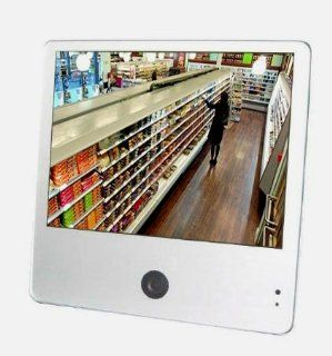 Security Monitor 10.4 Inch Professional Color LED Screen Display Public View Monitor PVM with 650 TVL High Resolution Sony Camera VGA and BNC Output Speaker for CCTV DVR Home Office Supermarket CVS 7 Eleven Surveillance Secure System Silver  Security And