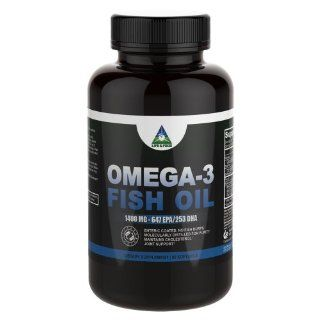 Omega 3 Fish Oil High Potency 1400 mg (980 mg Omega 3s) NO Fish Burps 90 Days Supply  Enteric Coated For Max Absorption w/ No Fishy Taste  Molecular Distilled, Contaminant Free  Grocery & Gourmet Food