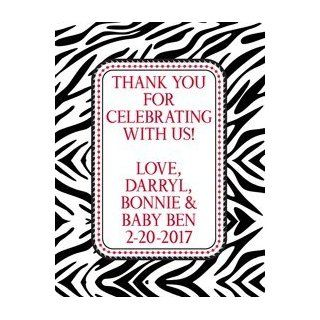 Boys Zebra Print Baby Shower Party Favor Labels : All Purpose Labels : Office Products