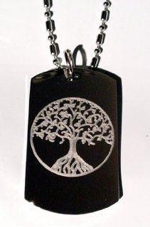 Celtic Tree of Life Irish Logo Symbols   Military Dog Tag Luggage Tag Key Chain Metal Chain Necklace: Pet Supplies