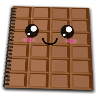 db_57500_2 InspirationzStore Cute Food   Kawaii Happy Milk Chocolate Bar   Cute Smiley Foods   Japanese Style Cartoon Anime Character   Drawing Book   Memory Book 12 x 12 inch