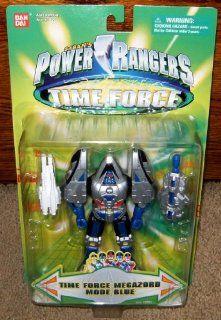 "Time Force Megazord Mode Blue 5.5"" Power Rangers Action Figure: Toys & Games"