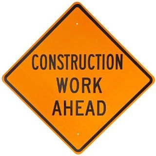 "Brady 113301 B 959 30"" x 30"" Construction Work Sign: Industrial Warning Signs: Industrial & Scientific"
