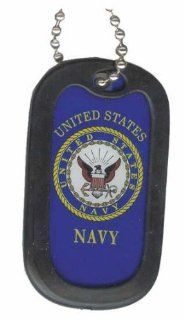 United States Navy Anchor Seal Armed Forces Symbols   Military Dog Tag Luggage Tag Key Chain Metal Chain Necklace