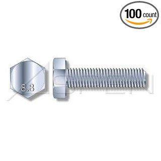 (100pcs) Metric DIN 961 M8X1X35 Fine Thread Hex Head Cap Screw with Full Thread Steel Zinc Plated Ships Free in USA Cap Screws And Hex Bolts Industrial & Scientific