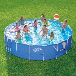 Summer Escapes 14 ft. x 42 in. Metal Frame Pool Set Toys & Games