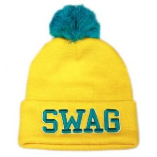 City Hunter Sk961 Swag Neon Beanie Pom Hat (Neon Yellow) at  Men�s Clothing store