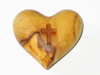 200 Carved Heart with Etched Cross Bulk Wholesale Lot Olive Wood Bethlehem Holy Land  Other Products