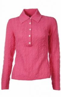 Sutton Studio Womens Cashmere Cable Knit Polo Sweater Misses at  Women�s Clothing store