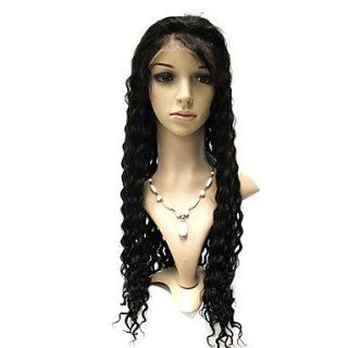 Full Lace 28 Inch Deep Wave 100% Brazilian Hair Wigs: Health & Personal Care