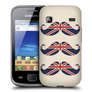 Head Case Designs UK Flag Moustaches Hard Back Case Cover for Samsung Galaxy Gio S5660: Cell Phones & Accessories