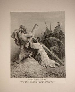 Gustave Dore   Jesus Falling Beneath the Cross Lithograph Print