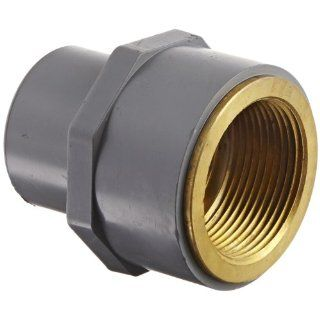 "GF Piping Systems CPVC to Brass Transition Pipe Fitting, Adapter, Schedule 80, Gray, 1 1/4"" NPT Female x SPG Industrial Pipe Fittings Industrial & Scientific"