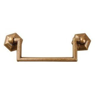 Bail Pull Antique Brass 3 3/4   Cabinet And Furniture Pulls