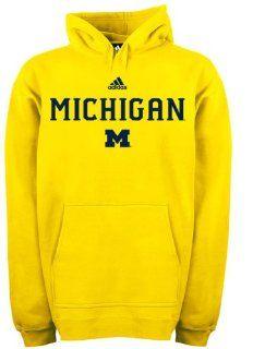 Michigan Wolverines adidas Gold Football Sideline Hoodie  Sports Fan Sweatshirts  Sports & Outdoors
