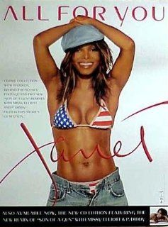 JANET JACKSON   ALL FOR YOU 18x24 POSTER P712 : Other Products : Everything Else