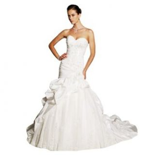 Wabl New 2014 Gorgeous Taffeta Sweetheart Lace Mermaid Wedding Dress Free Gift at  Women�s Clothing store