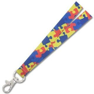 """""""autism awareness Puzzle Piece Lanyard : Special Needs Educational Supplies : Office Products"""