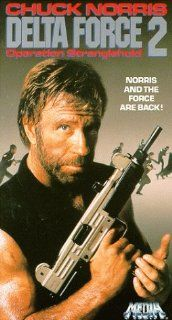 Delta Force 2 [VHS]: Chuck Norris, John P. Ryan, Billy Drago, Richard Jaeckel, Begonya Plaza, Paul Perri, H�ctor Mercado, Mark Margolis, Mateo G�mez, Ruth de Sosa, Gerald Castillo, Geoff Brewer, Aaron Norris, Avi Kleinberger, Christopher Pearce, Dean O&#39