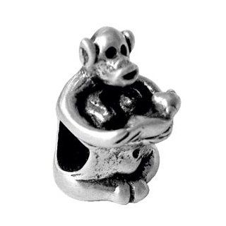 Melina World Jewellery   Monkey with Baby / Del mono con el beb�   3017   Handmade Sterling Silver 925   Handmade in Greece by Greeks. Inspired by Greek, Olympic and Mediterranean motives and history. Our jewelry fits chains from Biagi, Chamilia, Pandora &