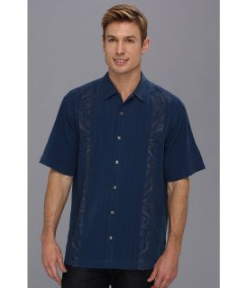 Tommy Bahama Path To Raj Camp Shirt Mens Short Sleeve Button Up (Blue)