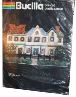 "Bucilla Precut Plastic Canvas ""Anyone Home?"" Doorstop/Mail Holder Size 6 x 11"""