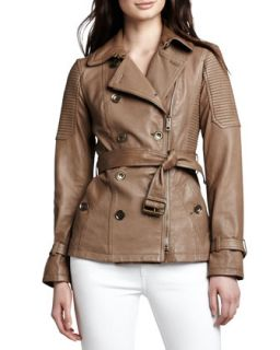 Burberry Brit Moto Leather Trench Jacket
