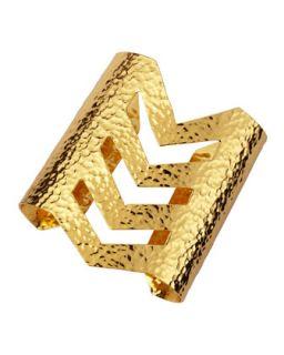 Robert Lee Morris Gold Plate Layered Cuff Bracelet