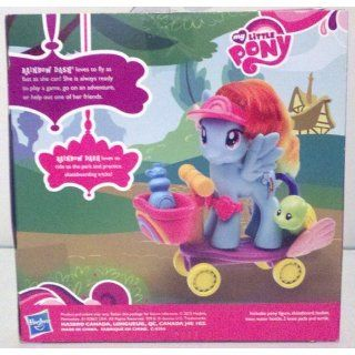 Fashion Ponies Ride Along With Rainbow Dash: Toys & Games