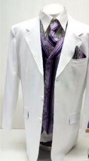 New Men's 5 Piece White & Purple Dress Suit Package (Vest, Handkerchief & Tie) at  Men�s Clothing store