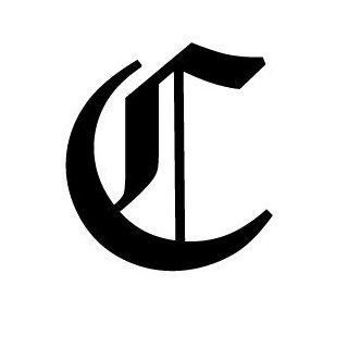 Old English Lettering Letter C White Decal: Automotive