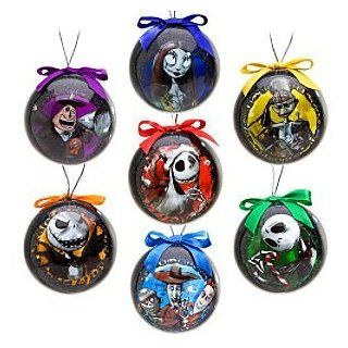 Disney Tim Burton's The Nightmare Before Christmas Decoupage Ornament Set    7 Pc.