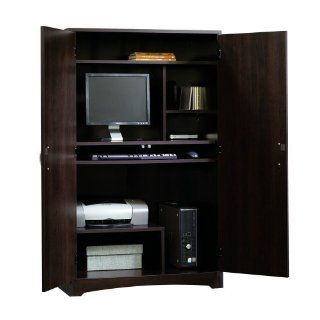 Model  Color 1239 Computer Armoire 475W In Antique Black Computer Armoires