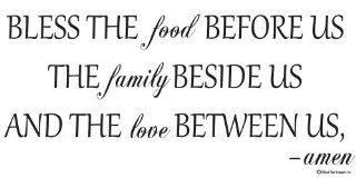 Bless the Food Before the Family Beside Us and the Love Between Us Amen Wall Decal family Wall Quotes bible Verse Wall Decal   Bless This Food Wall Decals