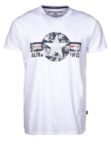 Alpha Industries   USAF   Print T shirt   white
