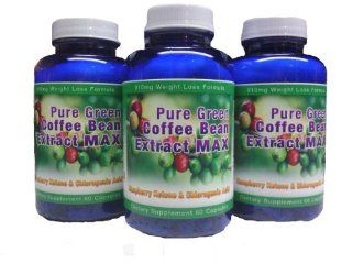 Pure Green Coffee Bean Extract Max ~ Strongest Diet Pill ~ 910mg Weight Loss Formula ~ Green Coffee Bean Extract 800mg ~ 100mg Raspberry Ketones ~ Downloadable FOOD JOURNAL Included ~ Contains up to 45% to 50% Chlorogenic Acid ~ 3 Month Supply: Health &amp
