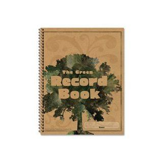 "Carson Dellosa Publishing Products   Green Record Book, 96 Pages, 8 1/2x11""   Sold as 1 EA   The Green Record Book allows you to conserve the environment while keeping attendance in style. Spiralbound record book contains 96 pages and includes a stude"