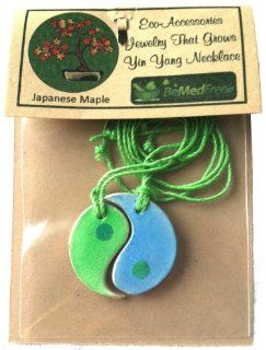 Unique Eco Friendly Biodegradable Gifts You Can Wear ♥ Unusual Matching Yin Yang Symbol Designs Contain Plantable Japanese Maple Tree Seeds ♥ Perfect Romantic Valentine's Day Gift Idea : Maple Trees : Patio, Lawn & Garden