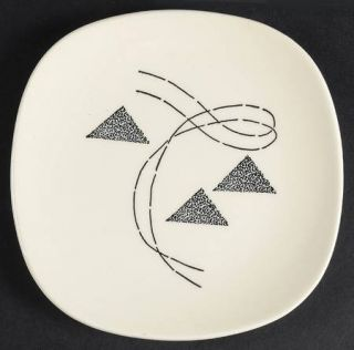 Edwin Knowles Flair Bread & Butter Plate, Fine China Dinnerware   Triangles And