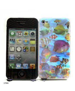 Basicase ™ 3D Effect Sea World Front & Back Screen Protector Film Cover for iPhone 4 U788A with Special Free Gift by Bydico ™: Cell Phones & Accessories