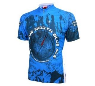 World Jerseys Men's Due North Blue Ale Cycling Jersey : Sports & Outdoors