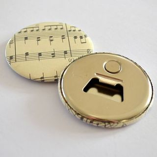 vintage music magnetic bottle opener by grace & favour home