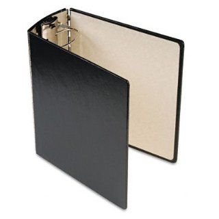 """Trapezoid Ring Binder with Metal Hinge, 4"""" Capacity, Letter, Black AVE98984  Office D Ring And Heavy Duty Binders"""