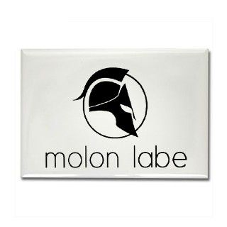 Molon Labe Rectangle Magnet by listing store 18231739